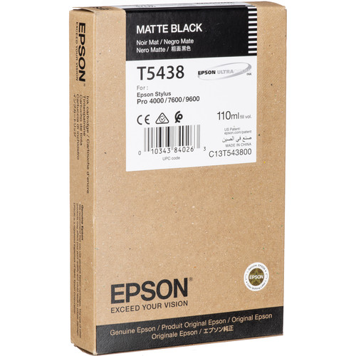 Epson UltraChrome, Matte Black Ink Cartridge (110ml)