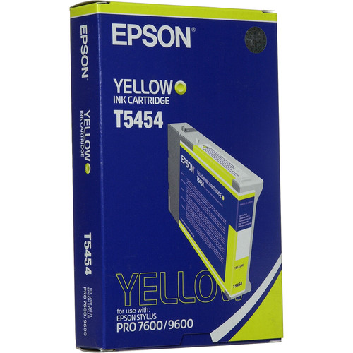 Epson Photographic Dye, Yellow Ink Cartridge for Stylus Pro 7600 & 9600 Printers