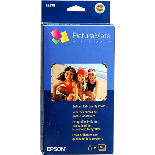 """Epson PictureMate Print Pack (Glossy, 4 x 6"""", 102 x 152mm, 100 Sheets)"""