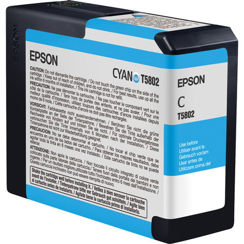 Epson UltraChrome K3 Cyan Ink Cartridge (80 ml)