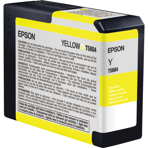 Epson UltraChrome K3 Yellow Ink Cartridge (80 ml)