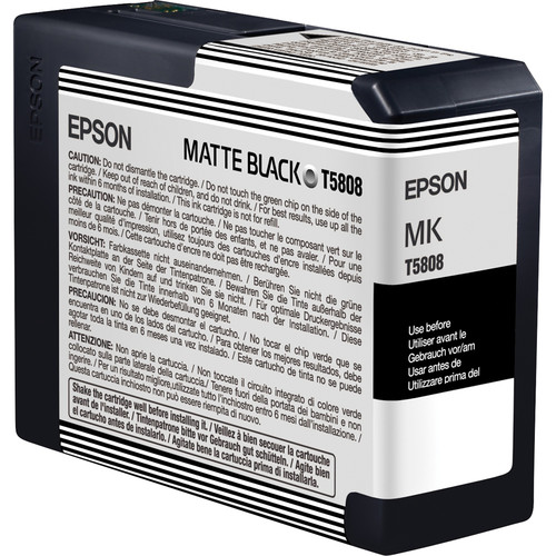 Epson UltraChrome K3 Matte Black Ink Cartridge (80 ml)