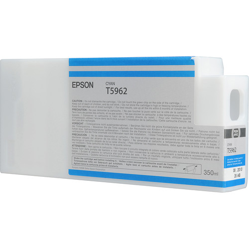 Epson T596200 Cyan UltraChrome HDR Ink Cartridge (350 mL)