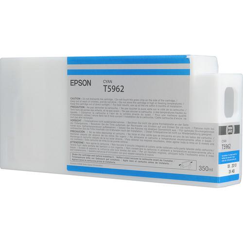 Epson T596200 Cyan UltraChrome HDR Ink Cartridge (350 mL)