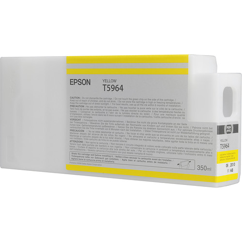 Epson T596400 Ultrachrome HDR Ink Cartridge: Yellow (350ml)