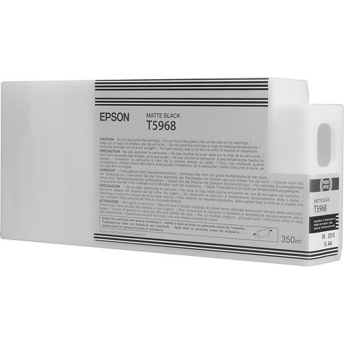 Epson T596800 Ultrachrome HDR Ink Cartridge: Matte Black (350ml)