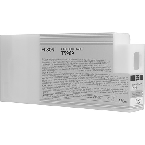 Epson T596900 Light Light Black UltraChrome HDR Ink Cartridge (350 mL)