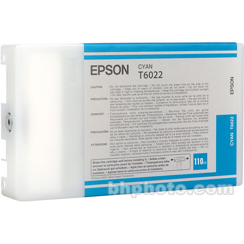 Epson UltraChrome Cyan Ink Cartridge (110ml)