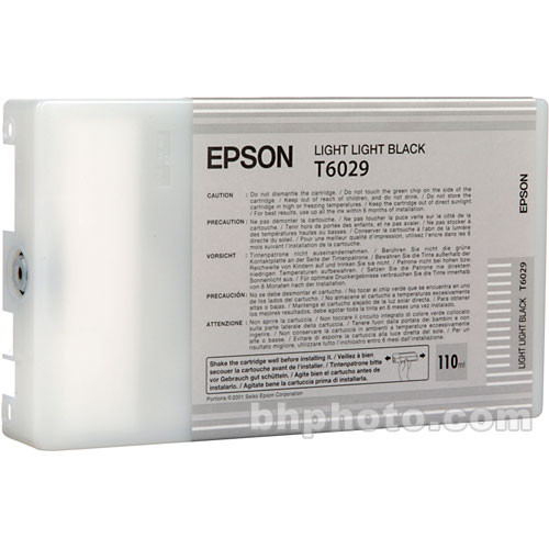 Epson UltraChrome Light Light Black Ink Cartridge (110ml)