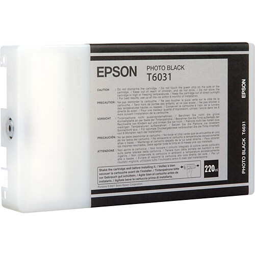 Epson T603100 Photo Black UltraChrome K3 Ink Cartridge (220 ml)