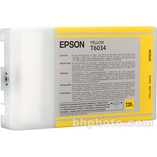 Epson UltraChrome K3 Yellow Ink Cartridge (220 ml)