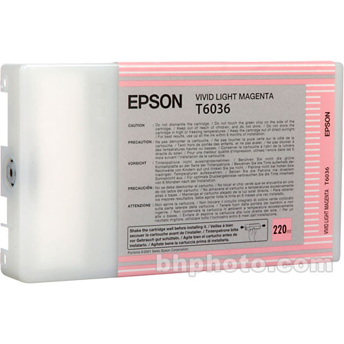Epson T603600 Vivid Light Magenta UltraChrome K3 Ink Cartridge (220 ml)