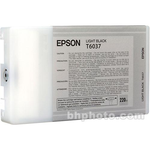 Epson T603700 Light Black UltraChrome K3 Ink Cartridge (220 ml)