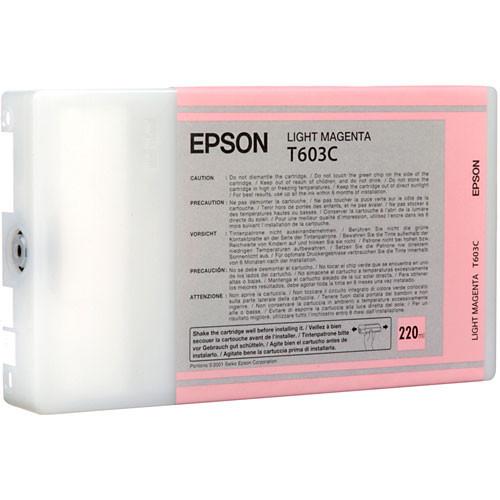 Epson T603C00 Light Magenta UltraChrome K3 Ink Cartridge (220 ml)