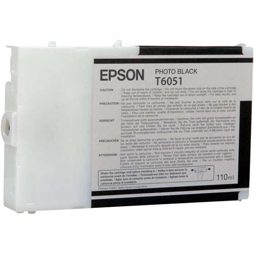 Epson UltraChrome K3 Photo Black Ink Cartridge (110 ml)