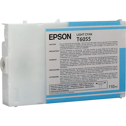 Epson UltraChrome K3 Light Cyan Ink Cartridge (110 ml)