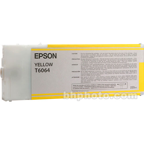 Epson UltraChrome K3 Yellow Ink Cartridge (220 ml)