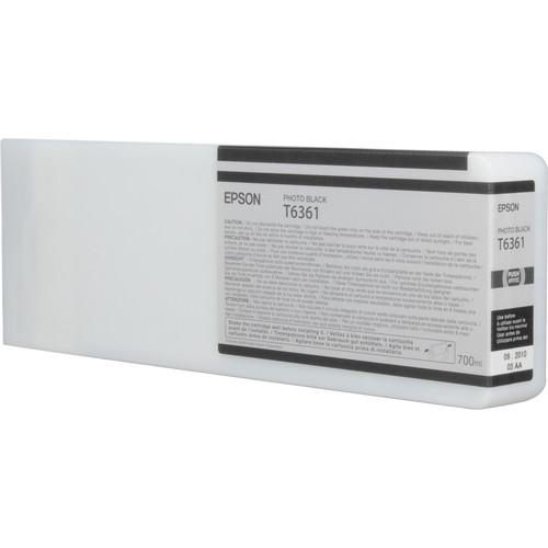 Epson T636100 Ultrachrome HDR Ink Cartridge: Photo Black (700ml)
