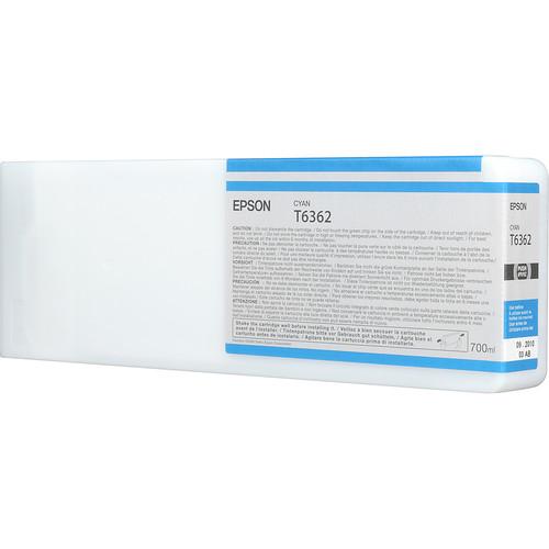 Epson T636200 Ultrachrome HDR Ink Cartridge: Cyan (700ml)