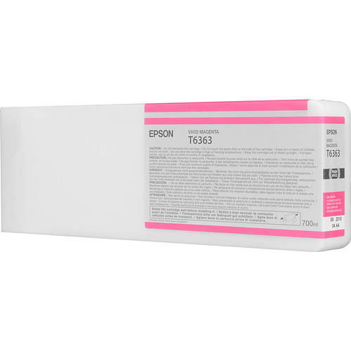Epson T636300 Vivid Magenta UltraChrome HDR Ink Cartridge (700 mL)