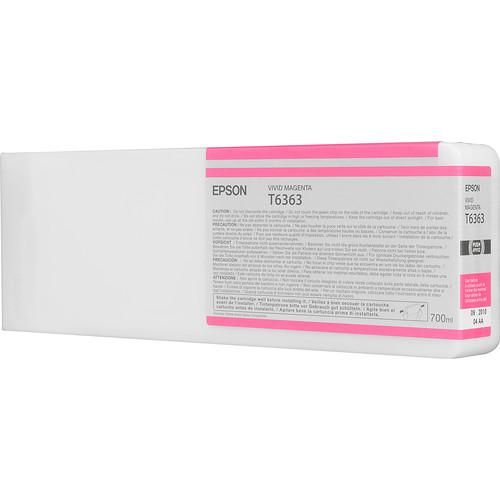 Epson T636300 Vivid Magenta UltraChrome HDR Ink Cartridge (700 mL)