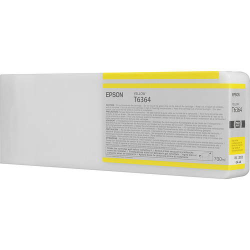 Epson T636400 Yellow UltraChrome HDR Ink Cartridge (700 mL)