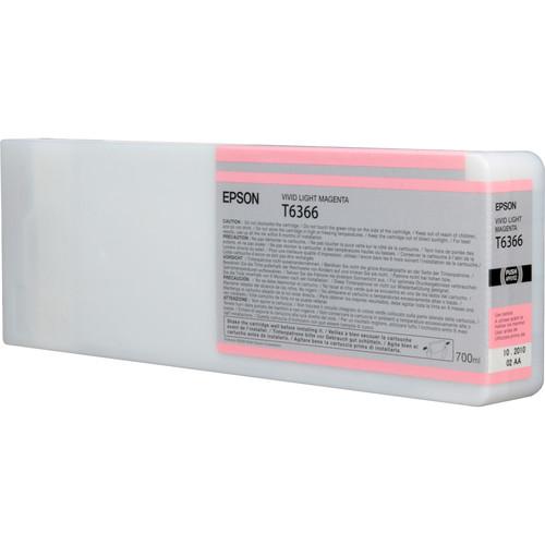 Epson T636600 Vivid Light Magenta UltraChrome HDR Ink Cartridge (700 mL)