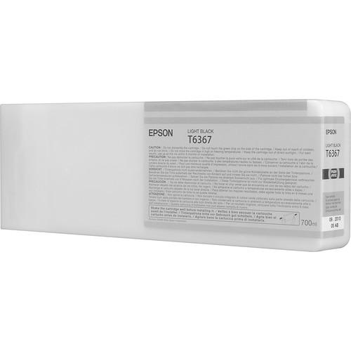 Epson T636700 Light Black UltraChrome HDR Ink Cartridge (700 mL)