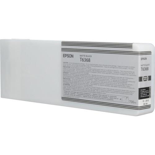 Epson T636800 Ultrachrome HDR Ink Cartridge: Matte Black (700ml)