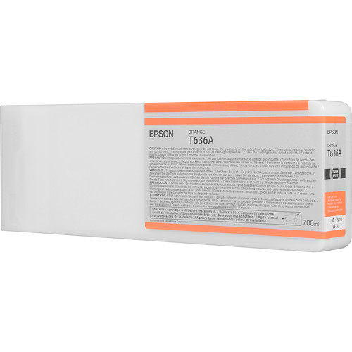 Epson T636A00 Orange UltraChrome HDR Ink Cartridge (700 mL)