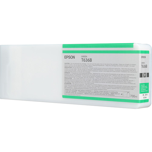 Epson T636B00 Green UltraChrome HDR Ink Cartridge (700 mL)
