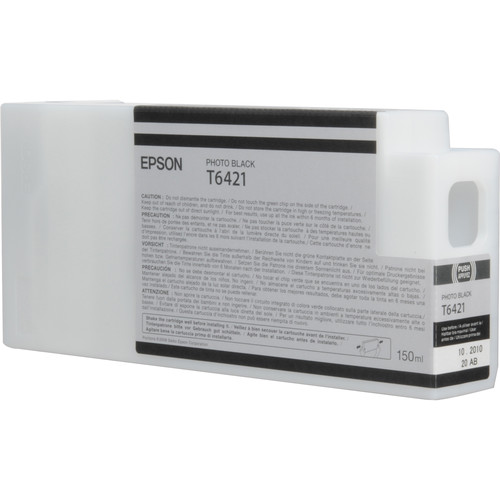 Epson T642100 Ultrachrome HDR Ink Cartridge: Photo Black (150ml)