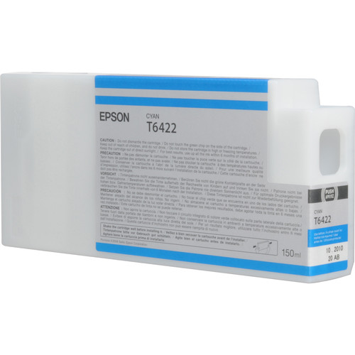 Epson T642200 Cyan UltraChrome HDR Ink Cartridge (150 mL)