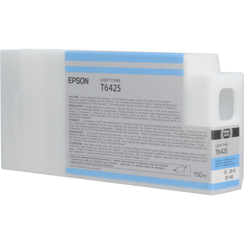 Epson T642500 Light Cyan UltraChrome HDR Ink Cartridge (150 mL)