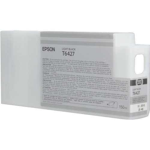 Epson T642700 Light Black UltraChrome HDR Ink Cartridge (150 mL)