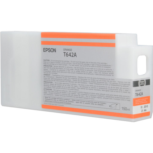 Epson T642A00 Orange UltraChrome HDR Ink Cartridge (150 mL)