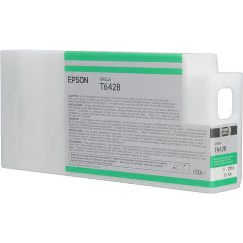 Epson T642B00 Green UltraChrome HDR Ink Cartridge (150 mL)