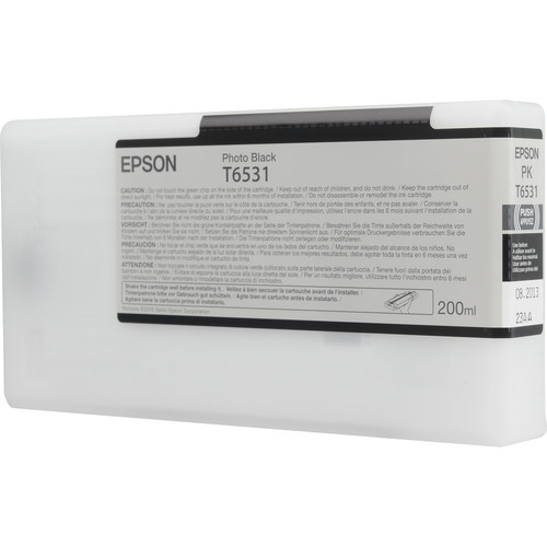 Epson Ultrachrome Ink for the Epson Stylus Pro 4900 Inkjet Printer (Photo Black, 200ml)