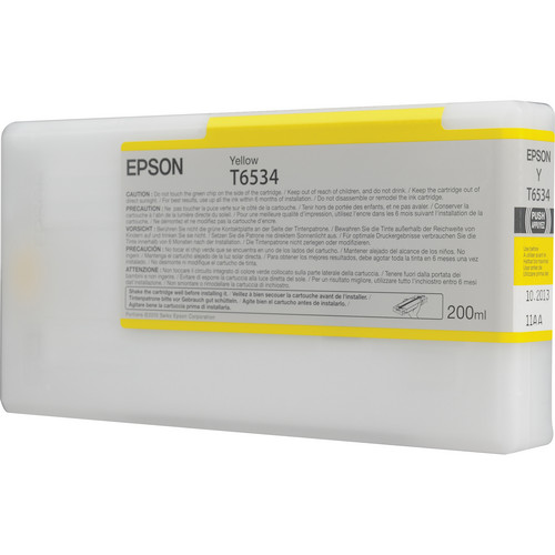 Epson Yellow UltraChrome Ink Cartridge for Stylus Pro 4900 (200 ml)