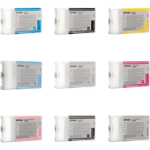 Epson UltraChrome Ink for 7880 & 9880: 110ml Cartridge Set (Kit 1)