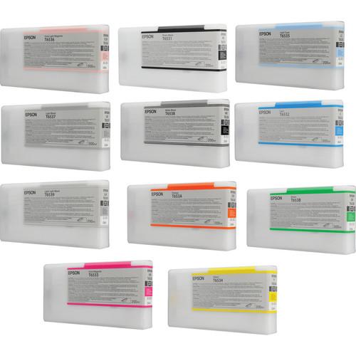 Epson UltraChrome HDR 11-Cartridge Ink Set for Stylus Pro 4900 Series Printers (200 ml)