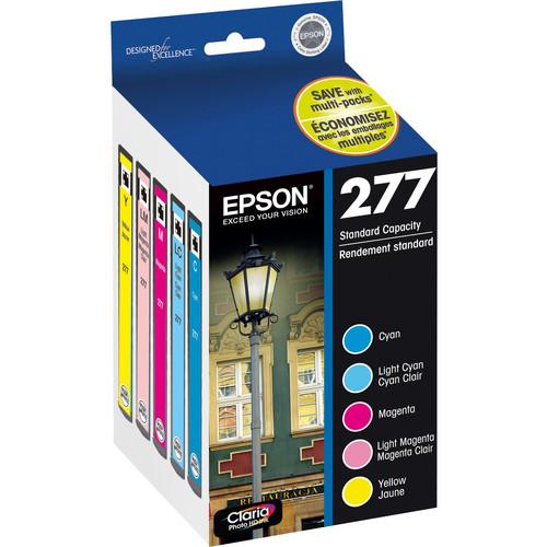 Epson 277 Claria Photo Hi-Definition Ink Cartridge Multi-Pack (5 Colors)