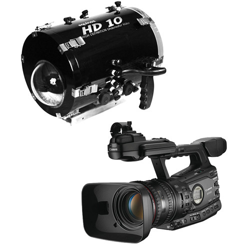 Equinox HD10 Underwater Housing with Canon XF 305 Professional Camcorder