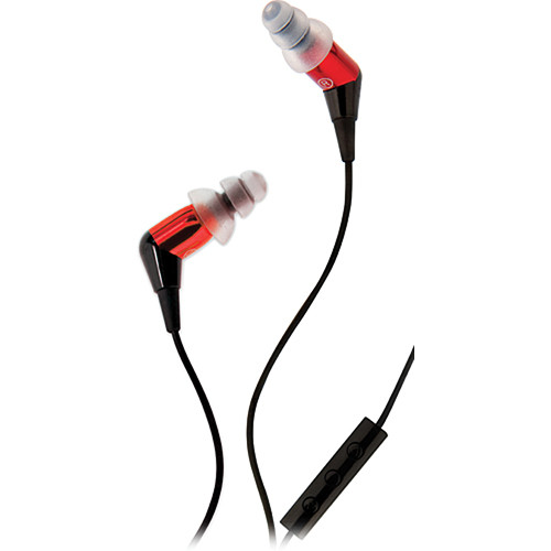 Etymotic Research mc3 Noise-Isolating In-Ear Stereo Headphones with Mic (Red)