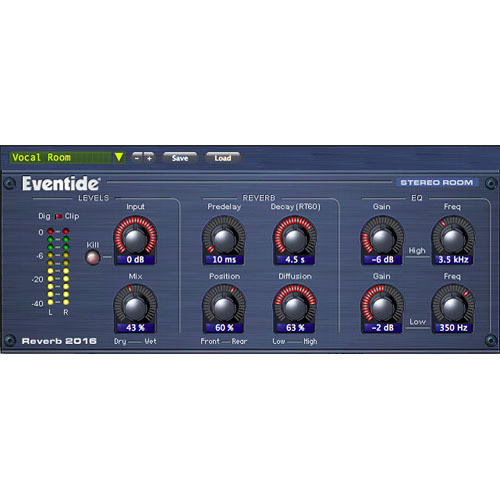 Eventide 2016 Stereo Room Plug-In