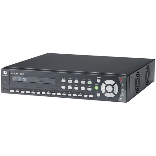 EverFocus ECOR264X1 Network DVR with DVD Burner (16-Channel, 500GB)