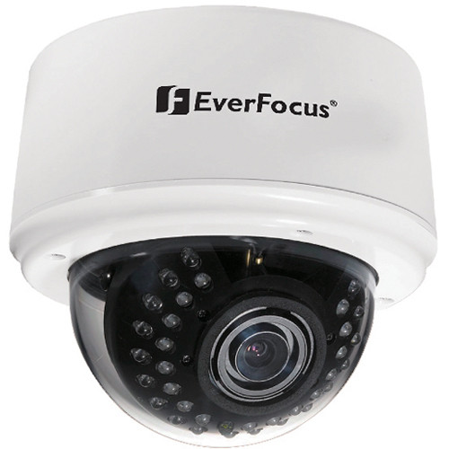EverFocus 3-Axis Day/Night IR Indoor Dome Camera (9-22mm Lens, White)