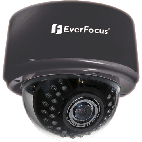 EverFocus 3-Axis Day/Night IR Indoor Dome Camera (2.8-10mm Lens, Black)