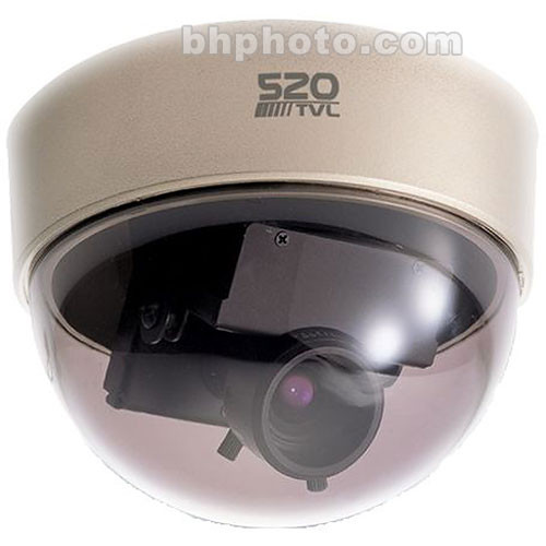 EverFocus ED350N1 Mini Dome Color Surveillance Camera, Clear Shell