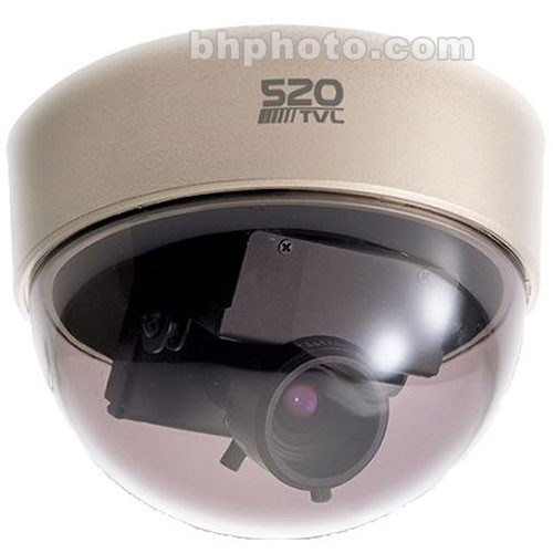 EverFocus ED350/N-2 Mini Dome Color Surveillance Camera (Gold Base)